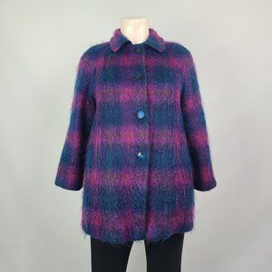 Vintage Fashion Gallery Mohair Jacket Size 14